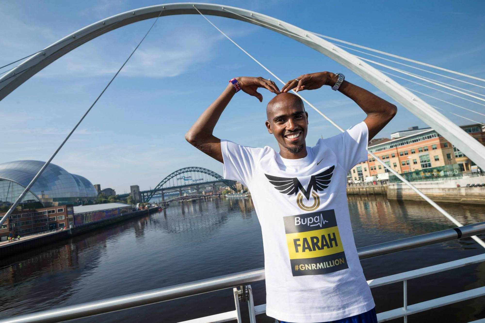 mo farah great north run, great north run atmosphere