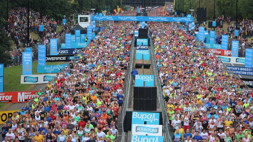 bupa great north run size, bupa great norht run advice, great north run course