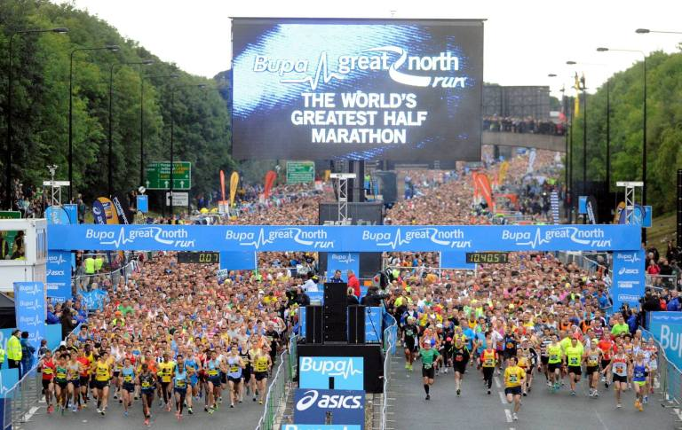 Bupa great north run biggest in world, bupa great north run  review, great north run tips, advice