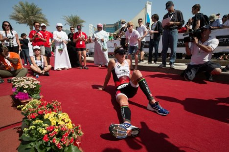 Abu Dhabi Triathlon finish