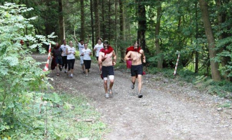 Spartan Sprint running