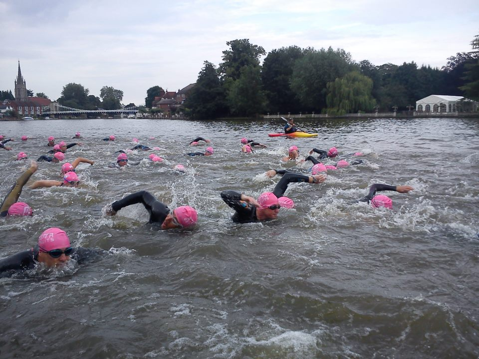 marlow triathlon ironman review, marlow half ironman swim current