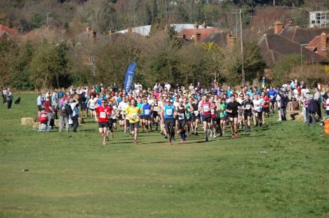 leith hill half marathon start, leith hill half course,