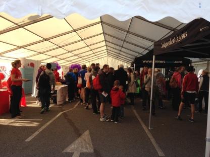 surrey half marathon race village