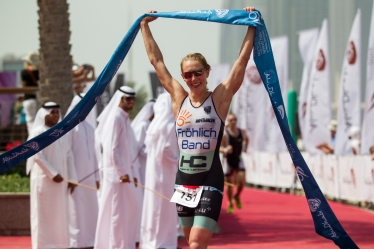 Svenja Bazlen scoops gold at Abu Dhabi International Triathlon