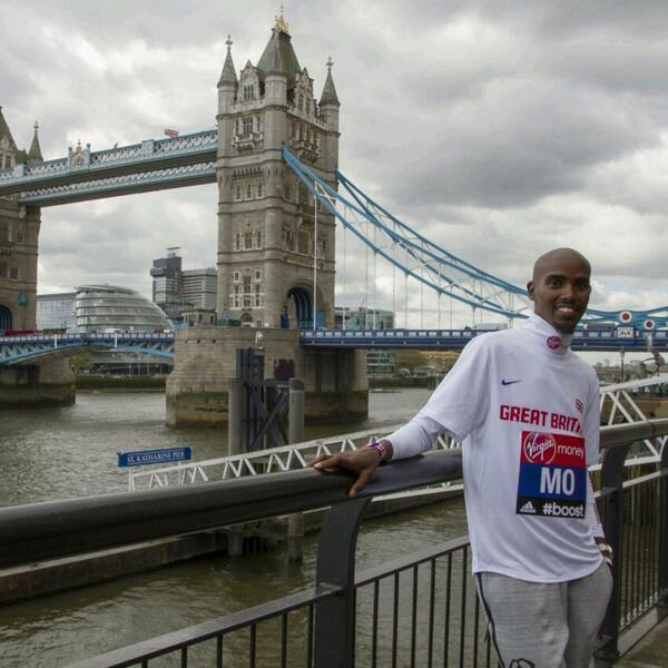 MoFarah London Marathon 2014,