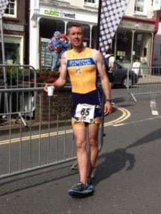 mark lewis arundel triathlon finish