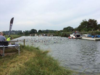 arundel triathlon swim start course