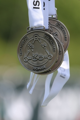 isoman triathlon worcestershire medal