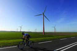 ALMERE, NETHERLANDS - SEPTEMBER 10: Participants compete in the cycle leg during Challenge Triathlon Almere-Amsterdam on September 10, 2016 in Almere, Netherlands. (Photo by Charlie Crowhurst/Getty Images for Challenge Triathlon)